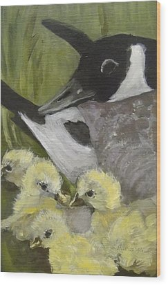 Mother Goose Wood Print by Edith Hunsberger