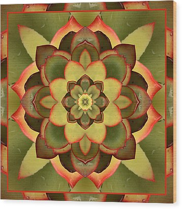 Mother Lotus Wood Print
