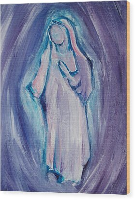 Mother Mary Essence Wood Print