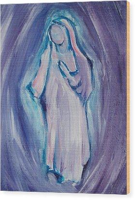 Mother Mary Essence Wood Print by Tara Moorman