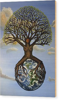 Mother Nature  Mother Earth Wood Print by Shawna Dockery