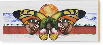 Mother Nature Vi Wood Print by Anthony Burks Sr