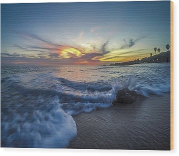 Wood Print featuring the photograph Mother Natures Fireworks by Sean Foster