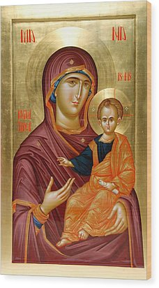 Mother Of God Wood Print by Daniel Neculae