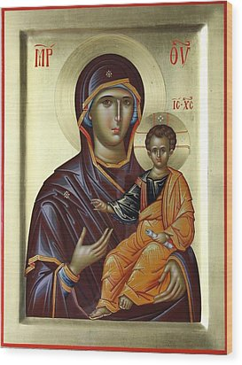 Mother Of God Hodighitria Wood Print by Daniel Neculae