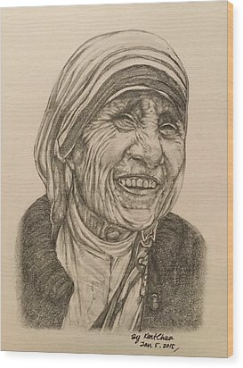 Mother Theresa Kindness Wood Print by Kent Chua
