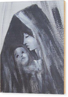 Motherly Love Wood Print by Martha Mullins