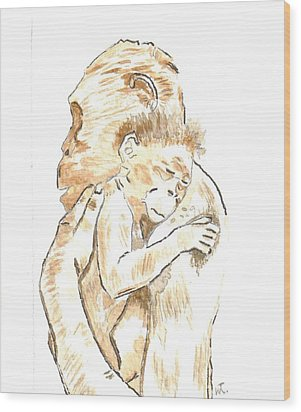 Mothers Arms Wood Print by Warren Thompson
