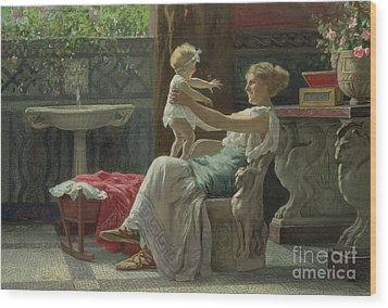 Mother's Darling  Wood Print by Zocchi Guglielmo