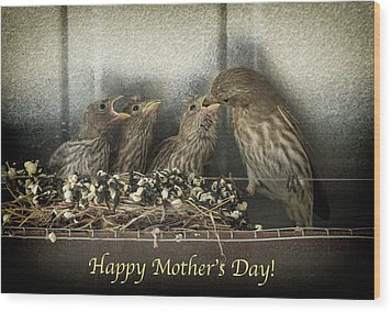 Mother's Day Greetings Wood Print by Alan Toepfer