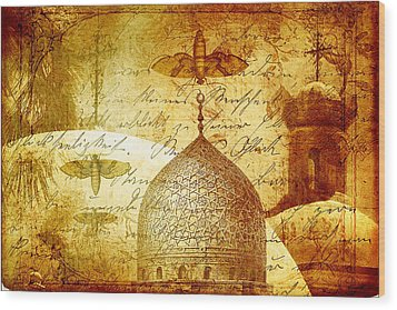 Moths And Mosques Wood Print by Tammy Wetzel