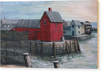 Motif No.1 Wood Print by Eileen Patten Oliver