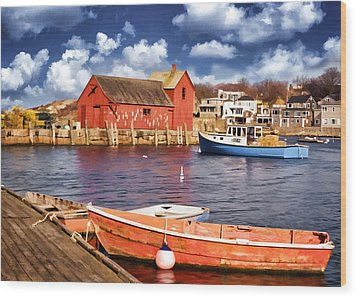 Motif Number One Wood Print by Jaki Miller