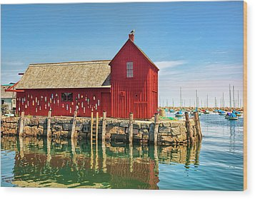 Motif One Wood Print by Marcia Colelli