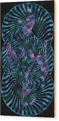 Motion 2 Wood Print by Evelyn Patrick