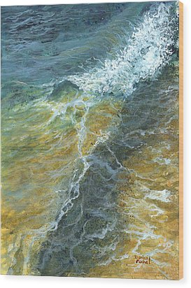 Wood Print featuring the painting Motion Of The Ocean by Darice Machel McGuire