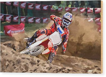 Moto-x Wood Print by Robert Smith