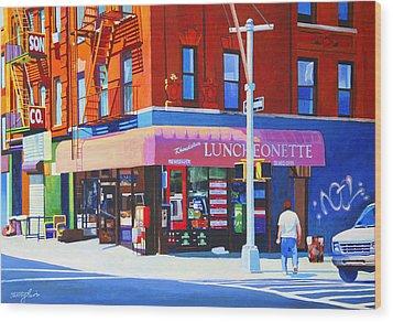 Mott Street Wood Print by John Tartaglione