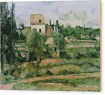 Moulin De La Couleuvre At Pontoise Wood Print by Paul Cezanne