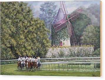 Moulin De Longchamp Wood Print by Thomas Allen Pauly