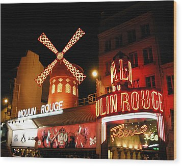Moulin Rouge Paris Wood Print