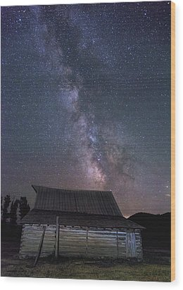 Moulton And The Milky Way Wood Print by Morris McClung