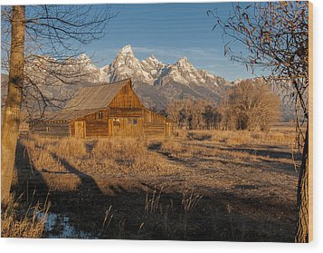 Wood Print featuring the photograph Moulton Barn by Gary Lengyel