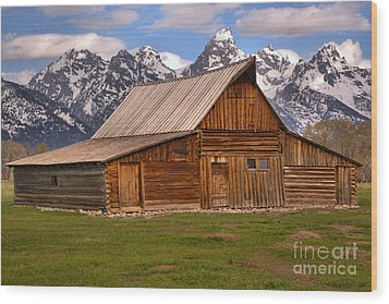 Moulton Barn Spring Landscape Wood Print by Adam Jewell