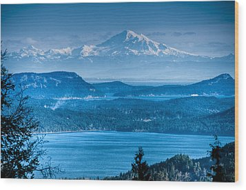 Mount Baker And The Gulf Islands Wood Print by R J Ruppenthal