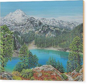 Mount Baker Wilderness Wood Print