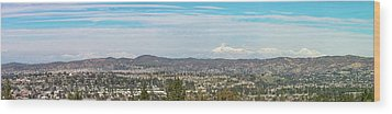 Mount Baldy And Mountain High Wood Print by Angela A Stanton