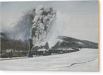 Mount Carmel Eruption Wood Print