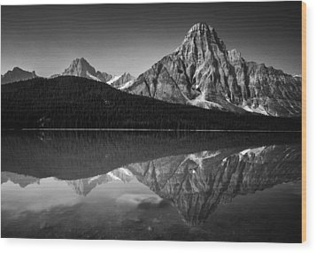 Mount Chephren Reflection Wood Print