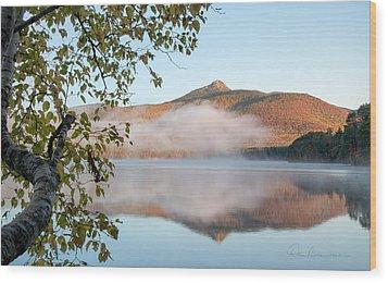 Mount Chocorua In Fog 0398 Wood Print by Dan Beauvais