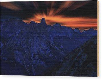 Mount Doom Wood Print by John Poon
