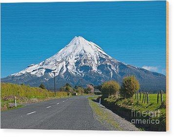 Mount Egmont Taranaki New Zealand Wood Print