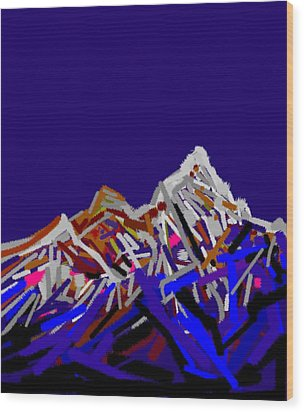Mount Everest Wood Print by Anand Swaroop Manchiraju