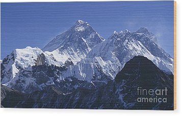 Wood Print featuring the photograph Mount Everest Nepal by Rudi Prott