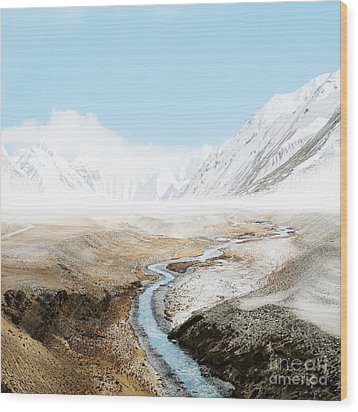 Wood Print featuring the photograph Mount Everest  by Setsiri Silapasuwanchai