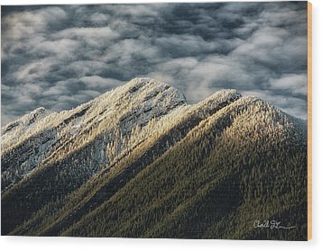 Mount Higgins Clouds Wood Print