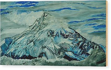 Mount Hood  Wood Print by Gregory Allen Page