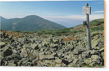 Mount Jefferson - White Mountains New Hampshire  Wood Print