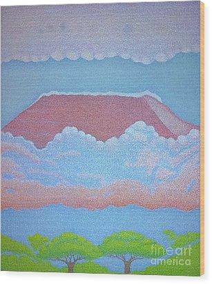 Mount Kilimanjaro Wood Print