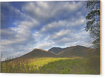 Mount Leconte In Great Smoky Mountains National Park Tennessee Wood Print by Brendan Reals