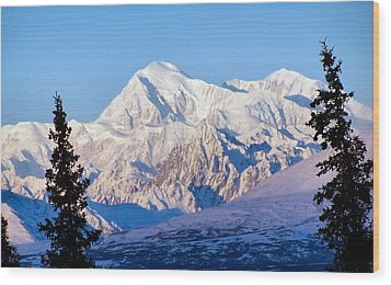 Wood Print featuring the photograph Mount Mckinley by Adam Owen