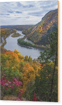 Wood Print featuring the photograph Mount Minsi 2 by Mark Papke