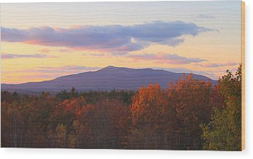 Mount Monadnock Autumn Sunset Wood Print by John Burk