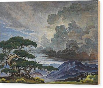 Mount Nebo Wood Print