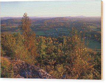 Mount Philo Foliage View Wood Print by John Burk