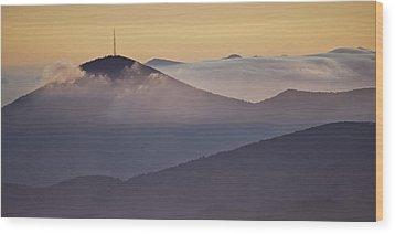 Mount Pisgah In Morning Light - Blue Ridge Mountains Wood Print by Rob Travis